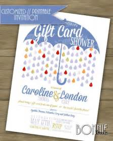 Couple s wedding shower invitation quot gift card quot theme blue