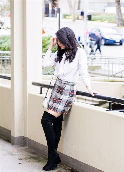 plaid mit ärmeln channeling my inner cher with a plaid mini skirt just a