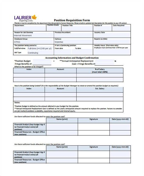 requisition form template requisition form template 8 free pdf documents