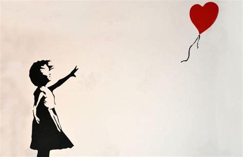 banksy balloon girl wallpaper wall mural muralswallpaper