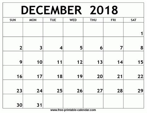 printable calendar 2018 january to december december 2018 calendar printable journalingsage com