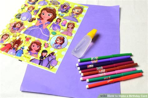 How To Make A Birthday Card Out Of Paper - 3 ways to make a birthday card wikihow
