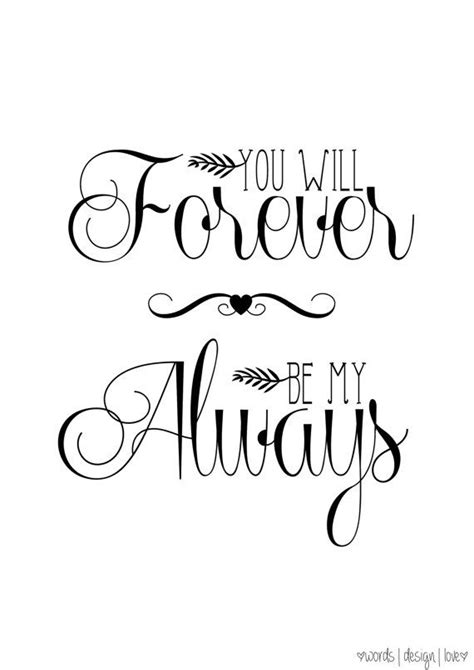 forever always you will forever be my always vintage style print
