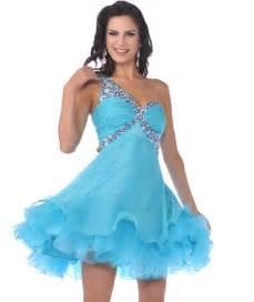Turquoise short prom dresses
