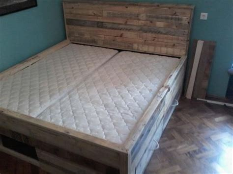 diy pallet bed with storage tutorial pallet beds with storage bmsaccrington
