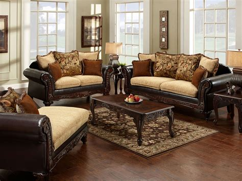 Sofa King Doncaster Doncaster Traditional Two Tone 2pcs Sofa Set Shop For
