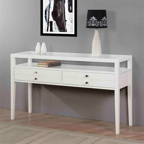 Aristo Gloss White Sofa Table Contemporary Console White Sofa Table