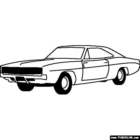 dodge charger coloring page coloring pages pinterest