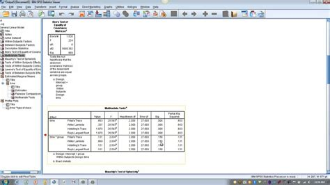 tutorial spss split plot how to use spss factorial repeated measures anova split