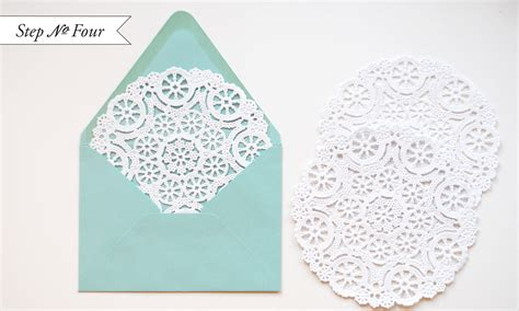 How To Make Paper Doily Envelopes - diy quot blue box quot inspired rubber st wedding