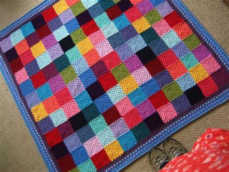 Knitted Patchwork Quilt Patterns - attic24 patchwork blanket ta dah