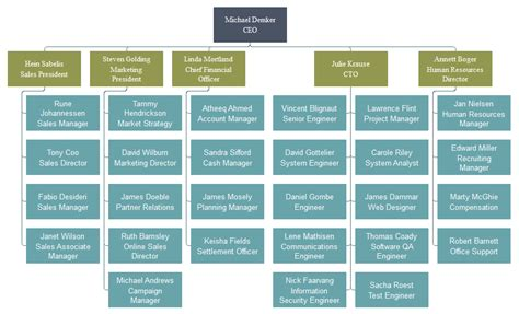 functional organizational chart template functional org chart org charting