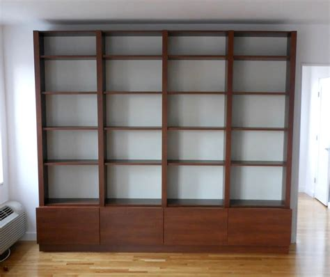 wood bookcase in morningside heights