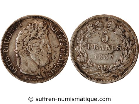Louis Philippe Möbel by Louis Philippe 5 Francs Argent 1837 Ma Marseille