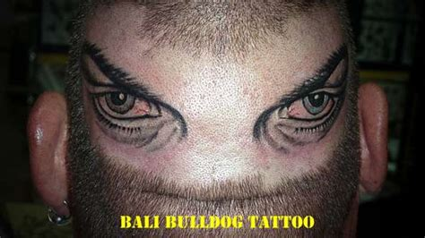 eyeball tattoo on back of head eyes on back head tattoo