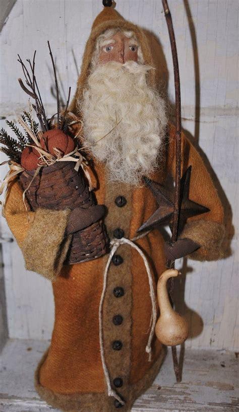 primitive santa folk art soft sculplture ooak santa doll