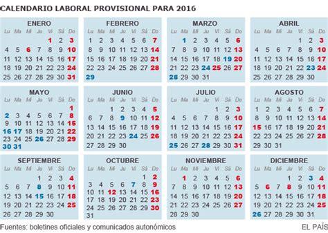 calendario de colombia del 2016 cundo en el mundo el calendario laboral de 2016 tiene ocho d 237 as festivos en