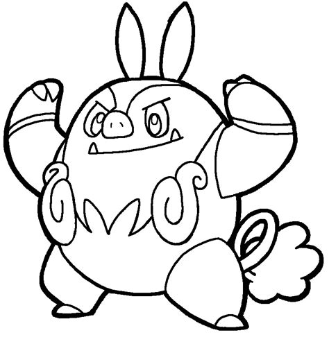 pokemon coloring pages pignite chaoboo lineart by yumezaka on deviantart