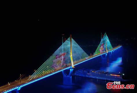3d light show stunning 3d light show on chongqing bridge 4 5