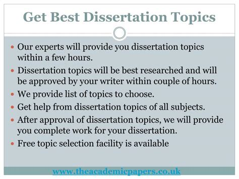 best dissertation topics ppt dissertation writing services get best help in uk