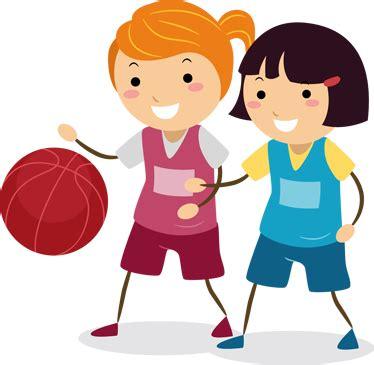 dibujos niños jugando baloncesto vinilo infantil pareja jugadoras baloncesto tenvinilo