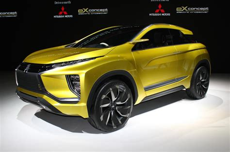 mitsubishi concept mitsubishi ex concept previews suv to slot between asx