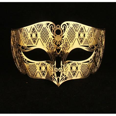 Masker Gold buy gold masquerade masks laser cut metal mask for