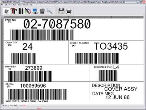 barcode label template labelright ultimate net multi user bar code label design