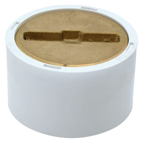 Clean Out Pvc 4 ez flo 3 in x 4 in pvc clean out with brass 15336