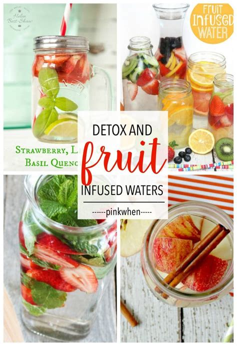 Fruit Detox Diet Recipes by 8 Delicious Fruit Infused Detox Waters Pinkwhen