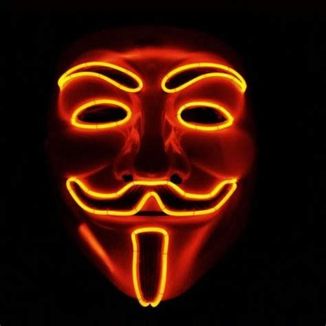 new year masks for sale new year v vendetta flash el wire led glowing