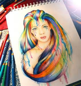 artist color pencils color pencil artist combines drawings with real