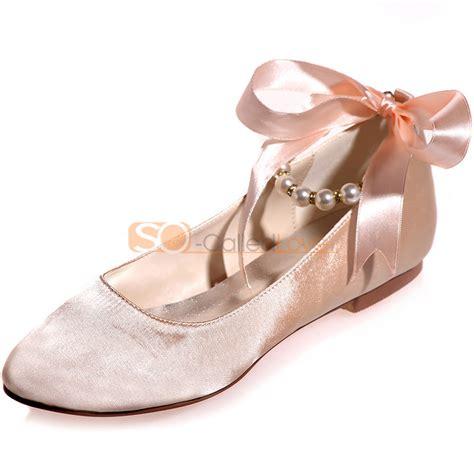Satin Wedding Flats by Toe Wedding Bridal Bridesmaid Flats Shoes Satin