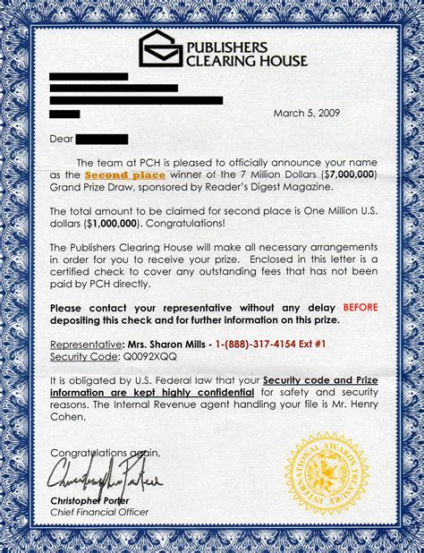 301 moved permanently - Publishers Clearing House Letter