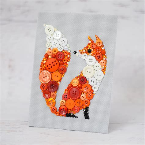 fox decor for the home custom red fox button art fox home decor bespoke fox art