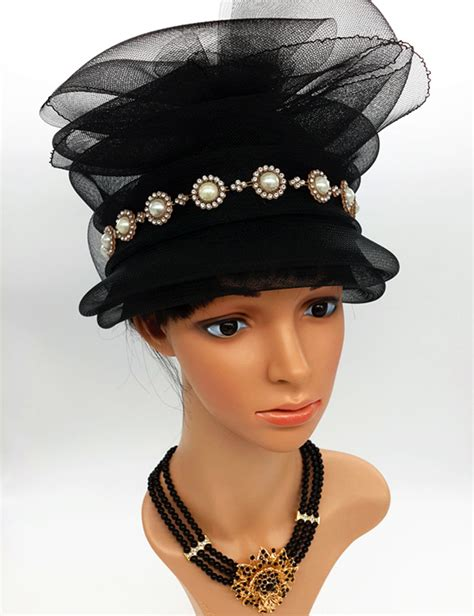 fancy feather fascinator hats black birdcage veil