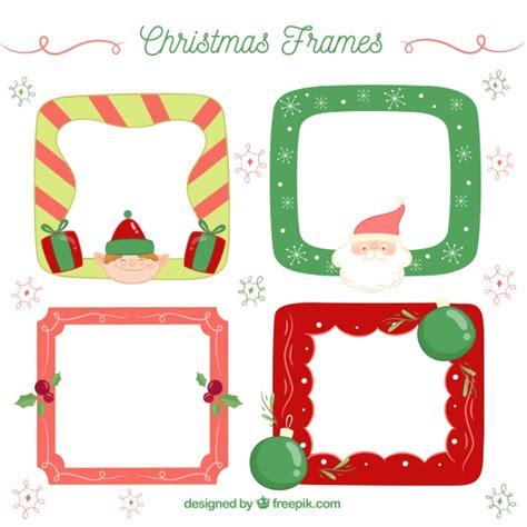 cornici per foto natalizie gratis confezione di cornici natalizie scaricare vettori gratis