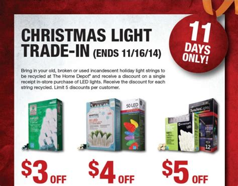 home depot christmas lights trade in 2014