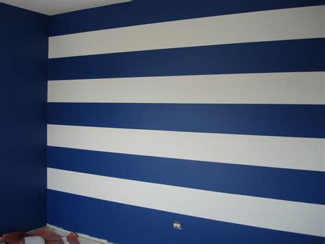 Blue Striped Walls | dg style striped wall