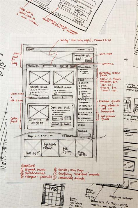 layout web sketch 33 great exles of web design sketches designbeep