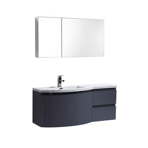 Bathroom Wall Ls by Alya Bath At 8110 Ls 48 Quot Single Modern Wall Mount Bathroom