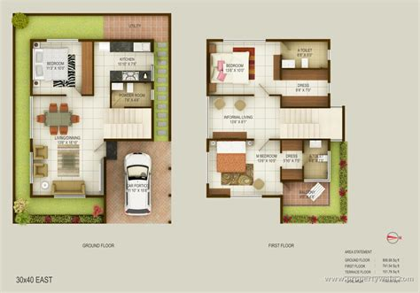 30x40 house floor plans east facing house plans for 40x50 site