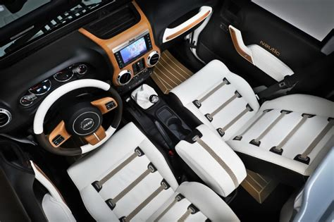 luxury jeep interior the jeep wrangler unlimited gets nautical