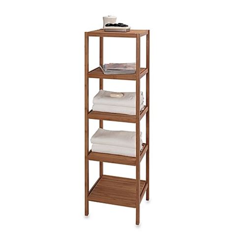 Buy Bathroom Shelves Buy Creative Bath Ecostyles 5 Shelf Bamboo Tower From Bed Bath Beyond