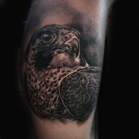 black and grey hawk tattoo 90 falcon tattoo designs for men winged ink ideas