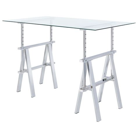 Adjustable Sawhorse Desk by Coaster Adjustable Writing Desk With Sawhorse Legs Dunk