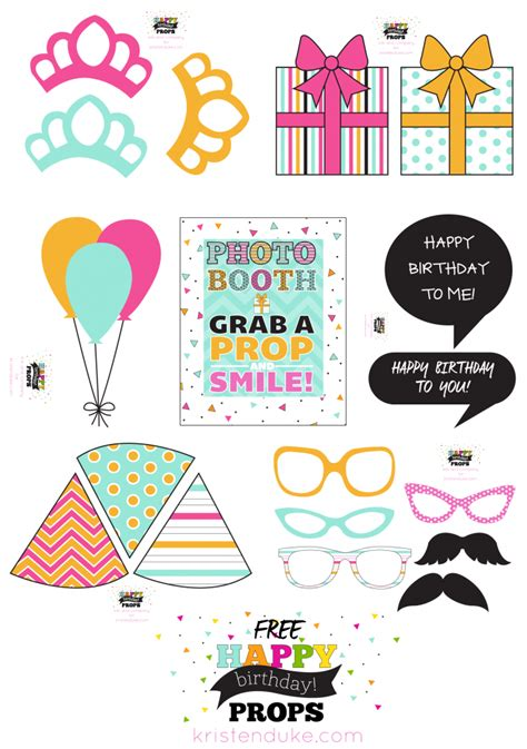 free printable photo booth props 50th birthday birthday photo booth props and free printables