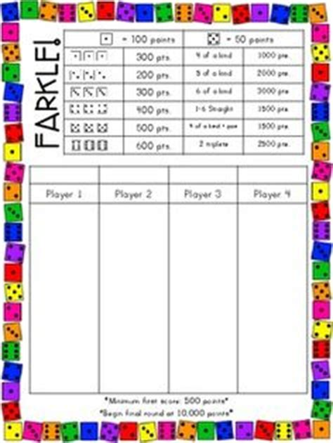 printable zilch instructions farkle game sheet related keywords farkle game sheet