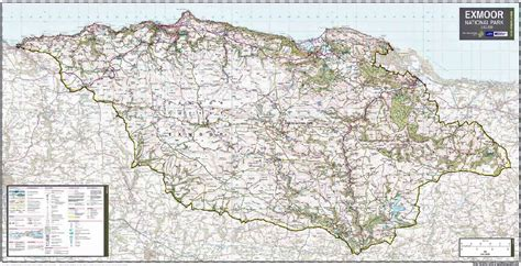 where is the map exmoor national park wall map
