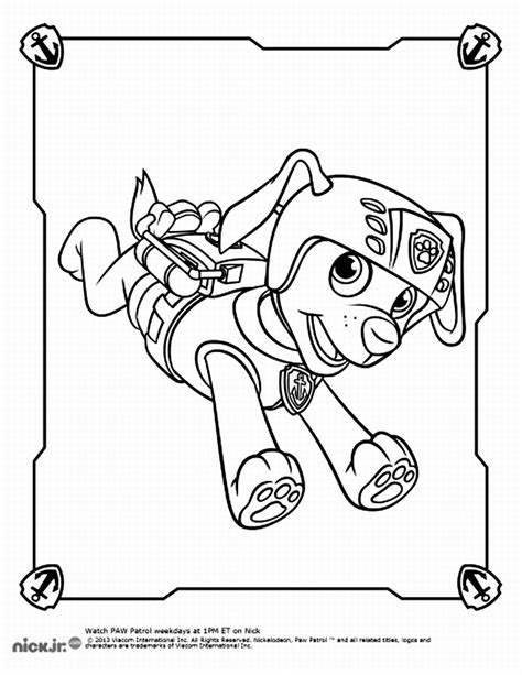 zuma coloring page paw patrol free paw patrol zuma coloring pages